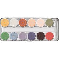 Kryolan Supracolor UV/IF 12 Palette