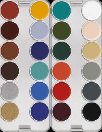 Kryolan Supracolor UV/IF 24 Palette