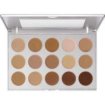 Kryolan HD Micro Foundation Palette - 15 shades