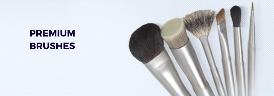 Premium makeup brushes