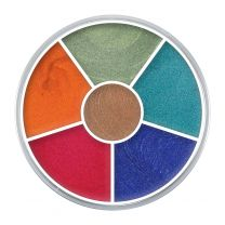 Kryolan 6 colour wheel  Sparkle