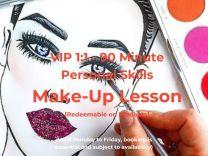 VIP 1:1 90 Min Personal Skills Makeup Lesson Voucher